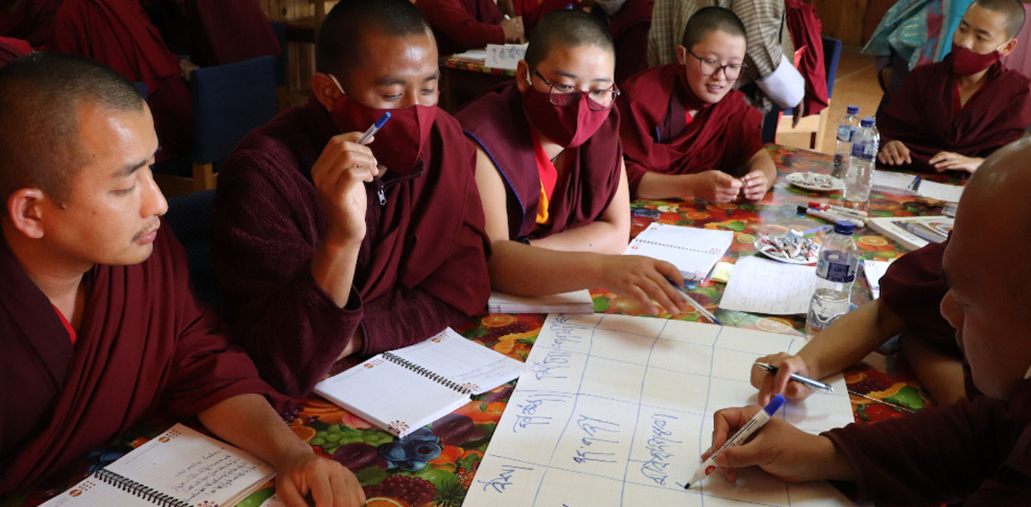 The monks are teaching sex education to young people