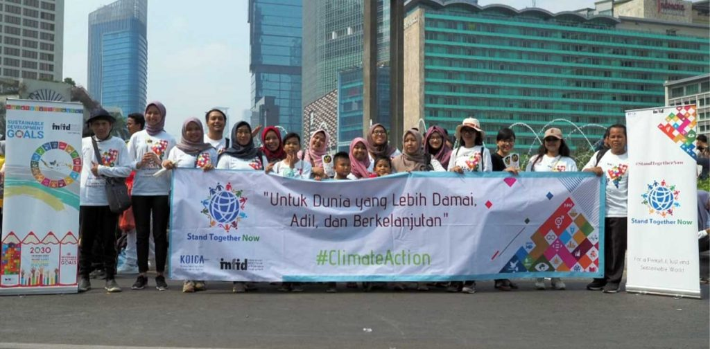 """""""For a more peaceful, just, and sustainable world"""" 